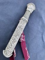 FINE ANTIQUE BHUTANESE OR TIBETAN SILVER DAGGER Bhutan Tibet China sword