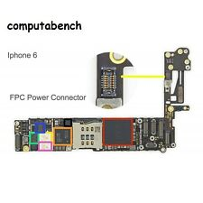 POWER BUTTON FPC connector for apple IPHONE6 high temp easy solder replacement