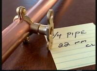 Copper Pipe Shelf Brackets Supports (Pair)