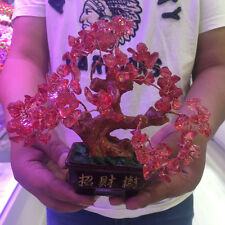 Smelting Crystal Pink Quartz Gemstone Bonsai Lucky Tree 305 GRAMS