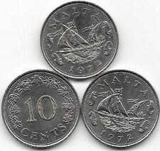 1972 10 cent da Malta in ottime condizioni. (18)