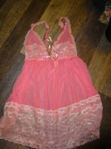 women's  babydoll   lingerie ~ large ~  Victoria's secret  pink