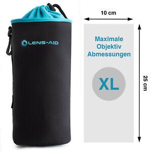 Lens-Aid Neopren Objektivbeutel mit Fleece-Fütterung - Objektivtasche Größe XL