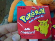 "Pokemon Hasbro Charizard 6""  Bean Bag Series 1 Plush New Uncirculated Mint!"
