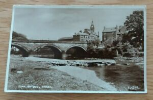 Vintage  1950`s B 4516  Real  Photograph  Postcard  Town  Bridge  Annan