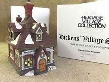 Department 56 Dickens Village Series Wm. Wheat Cakes & Puddings Christmas House