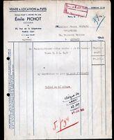 """PARIS (XIII°) FUTAILLES / FUTS """"L. MICHEL / Emile PICHOT Succ"""" en 1948"""