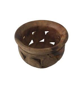 Unique Handmade Wooden Candlestick, Tea light Wooden decorative Candlestick