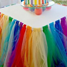 Colorful Tulle TUTU Table Skirt Baby Shower Tableware Birthday Wedding Party
