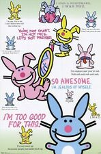 JIM BENTON ITS HAPPY BUNNY CHART QUOTES POSTER NEW 22X34 FREE SHIPPING
