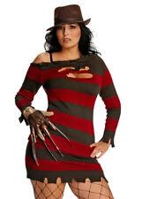 PLUS Size L Donna Sexy Costume Miss Freddy Krueger