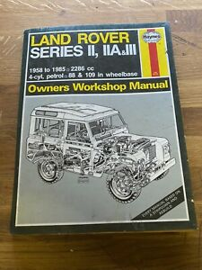Land Rover Series 2, 2a, 3 Heynes owners Workshop manual