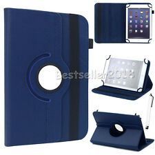 """US For 7"""" 7.9"""" 8"""" inch Tablet 360 Rotating Folio Stand PU Leather Case Cover Gif"""