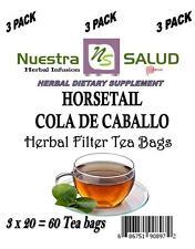 Cola De Caballo Te Horsetail Tea Filter Herbal Tea (60 Tea bags)