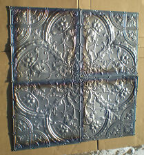 Sale 4'x 4' Antique Ceiling Tin Tile Medallion Torches Flower Gothic Arch Chic