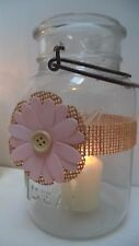 16 Mason Jar Pink Rustic Country Shower Wedding Party Shower Wraps A10