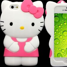 3D Gel Case for Apple iPhone 5 S 5S SE Hello Kitty Skin Soft  Silicone  Pink