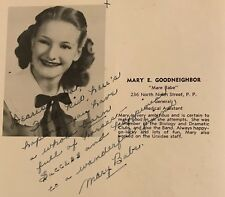 Mary Goodneighbor /  Irma the Body Senior High School Yearbook Burlesque Signed