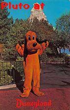 Disneyland Postcard Pluto with the Matterhorn Ride Behind Him~108251