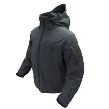 Condor 602 Summit Tactical Soft Shell Jacket Dupont Teflon Stow Away Hoodie Black Large