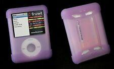 Silikon Tasche für Apple iPod Nano 3r Hülle Case Etui Schutz +Zubehör lila pink