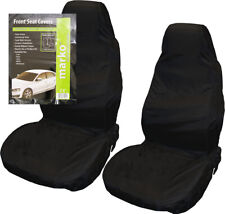 Universal Car Van Black Waterproof Nylon Heavy Duty Front Seat Covers Protectors