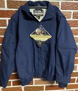 Zero Restriction Gore-Tex Full Zip Wind Rain Golf Jacket Navy Blue Ladies Medium