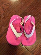 Crocks Sandles pink and white Toddler size 8/9
