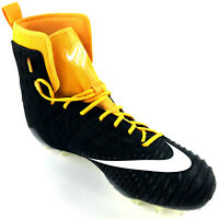 NIKE Force Savage Elite TD Football Cleats Mens Size 15 Black Yellow and White