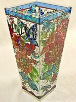 Frilly Floral Fantasy Glass Vase
