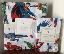 Pottery Barn Kids Justice League Twin Duvet Cover & 1 Standard Sham