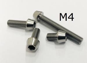 Titan Schraube M4 x 8 - 50mm konisch DIN 912 Grade 5 / Fahrrad Titanschrauben M4