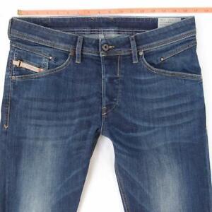 Mens Diesel BELTHER 0814W Stretch Slim Straight Blue Jeans W32 L32