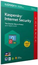 Kaspersky Internet Security 2018 3 Users Multi Device inc Antivirus FFP Retail