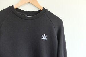 Rare Adidas Originals trefoil  M Black Sweater trefoil logo crew 2018