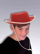 Child Character RED COWBOY HAT White Binding Woody Jessie Western Toy Story   H2