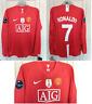 RONALDO Man United Shirt 2008/2009 CHAMPIONS World Champions SHIRT LARGE