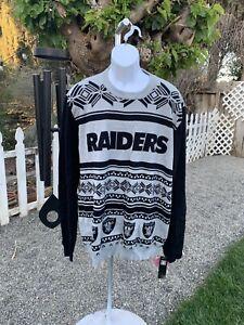 NFL TEAM APPAREL RAIDERS OAKLAND LAS VEGAS Sweater Sz XXL 2XL