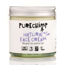 Natural Face Cream by PureChimp 60ml - Recyclable Glass - Vegan, Pure, Jojoba