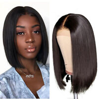 Brazilian Short Bob Straight Lace Front Wigs Remy Human Hair For Black Women