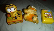 Garfield Soap Kid Care Clip Smiling Desk Ornament Plush Soft Toy Stuffed Animal