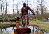 Arthur Winkler (1865-1944) wunderschöne Bronze Der Gießer 13 kg edel & wertvoll