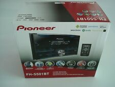 PIONEER FH-S501BT Bluetooth In-Dash CD Receiver Double Din - Black, Brand NEW