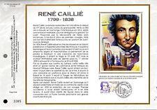 3257++FEUILLET CEF SUR  SOIE 1erJOUR 1999  RENE   CAILLIE
