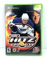 NHL Hitz 20-03 (Microsoft Xbox, 2002) Clean, Complete w/ Manual Great Condition