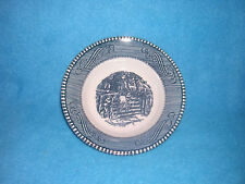Fruit/Dessert (Sauce) Bowl in Currier and Ives Blue by Royal (USA) Old Farm Gate