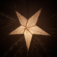 Red Hanging Paper Star Lamp Light Latern Christmas Festive Decorative Star Lamps