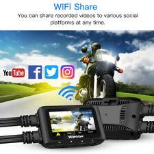 "WonVon 2.7"" Front + Rear FHD 1080P WiFi GPS Motorcycle Dash Cam Camera Recorder"