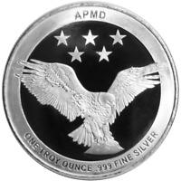 1 Troy oz APMD .999 Fine Silver Round