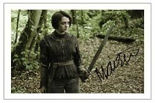 MAISIE WILLIAMS GAME OF THRONES SIGNED PHOTO PRINT AUTOGRAPH ARYA STARK